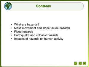 Earth Hazards