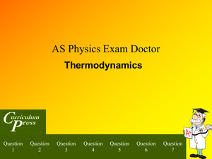 As Thermodynamics