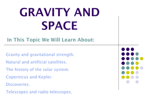 9J Gravity And Space