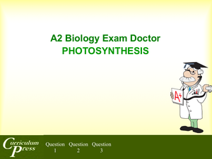 A2 02 Photosynthesis