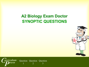 A2 20 Synoptic Questions