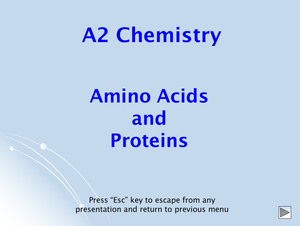 A2 Amino Acids And Proteins