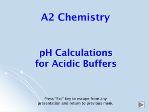 A2 Calculating Buffer Ph