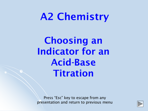 A2 Choice Of Indicator