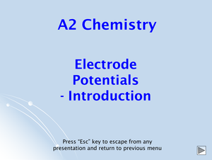 A2 Electrode Potentials Introduction