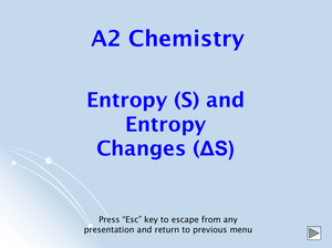 A2 Entropy Changes