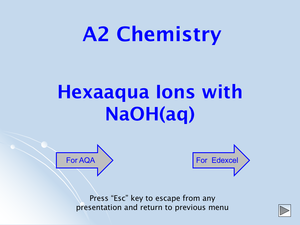A2 Hexaaqua Ions With Naoh(Aq)