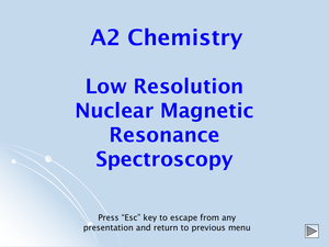 A2 Low Resolution Nmr