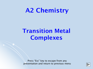 A2 Transition Metal Complexes