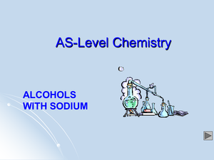 As Alcohols With Sodium