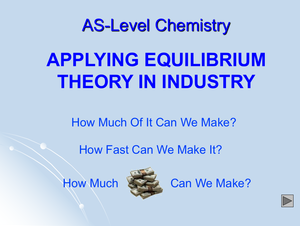 As Applying Equilibrium Theory In Industry
