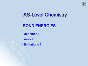 As Bond Energies