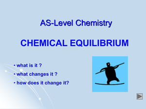 As Chemical Equilibrium