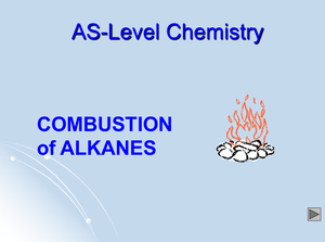 As Combustion Of Alkanes