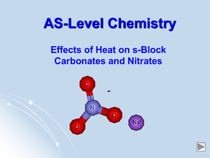 As Effects Of Heat On S Block Carbonates And Nitrates