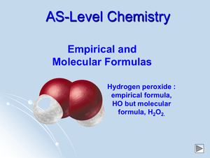 As Emphirical And Molecular Formulas