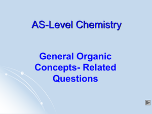 As General Organic Concepts Qs