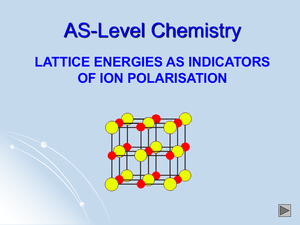 As Lattice Energies As Indicators Of Ion Polarisation