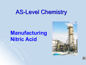As Manufacturing Nitric Acid