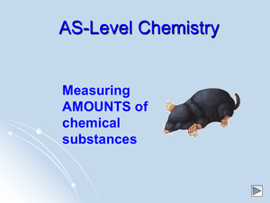 As Measuring Amounts Of Chemical Substances