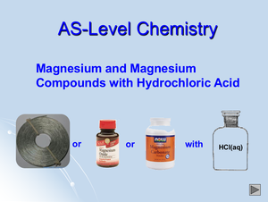 As Megnesium And Magnesium Compounds With Hydrochloric Acid
