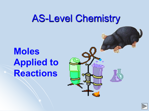 As Moles Applied To Reactions