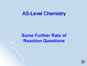 As Rate Of Reaction Qs 2