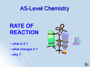 As Rate Of Reaction