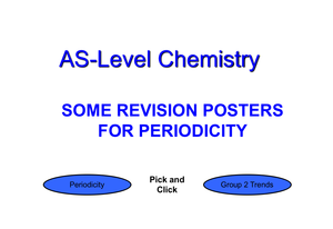 As Revision Posters Periodicity
