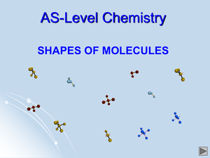 As Shapes Of Molecules