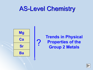 As Trends In Physical Properties Of Group 2 Metals