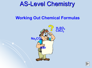 As Working Out Chemical Formulas