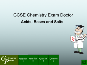Gcse Chemistry Doctor Acids, Bases And Salts