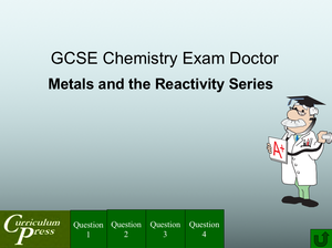 Gcse Chemistry Doctor Metals And The Reactivity Series
