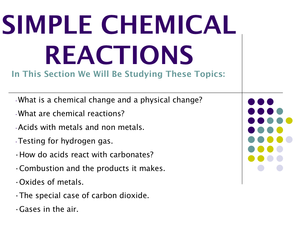 7F Simple Chemical Reactions