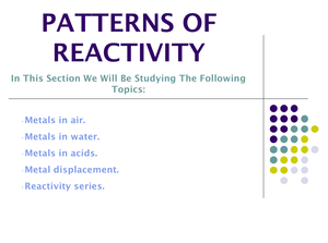 9F Patterns Of Reactivity
