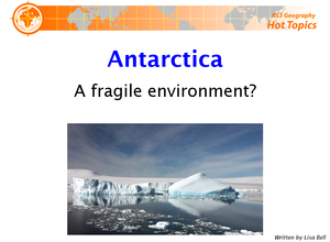 Antarctica A Fragile Environment