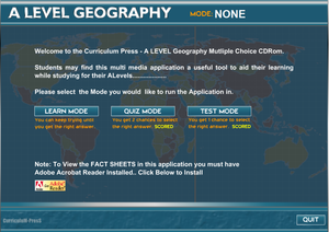 Al Geography Multiple Choice