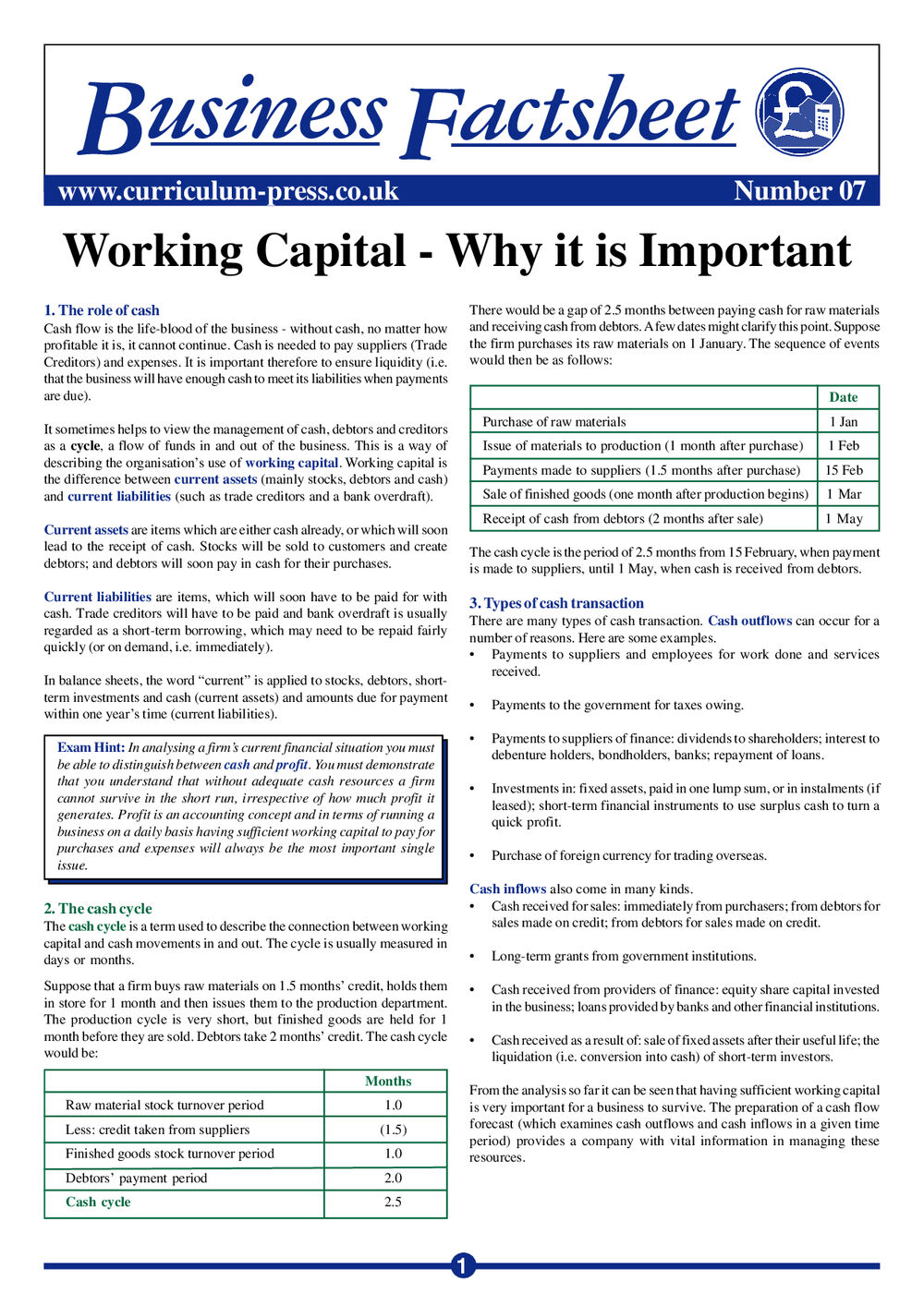 07 Working Capital