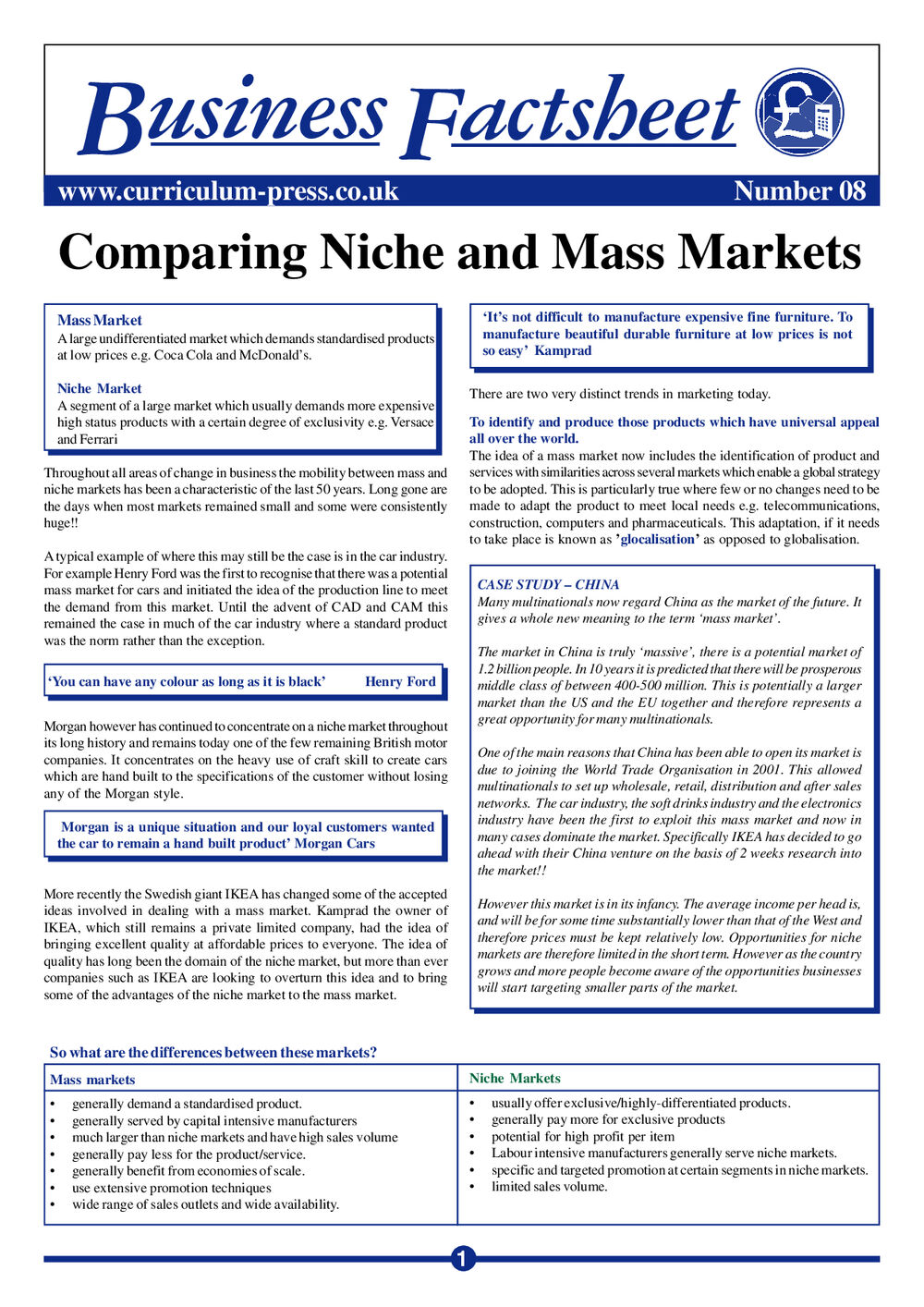 08 Niche And Mass Market