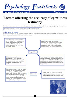103 Factors Eyewitness