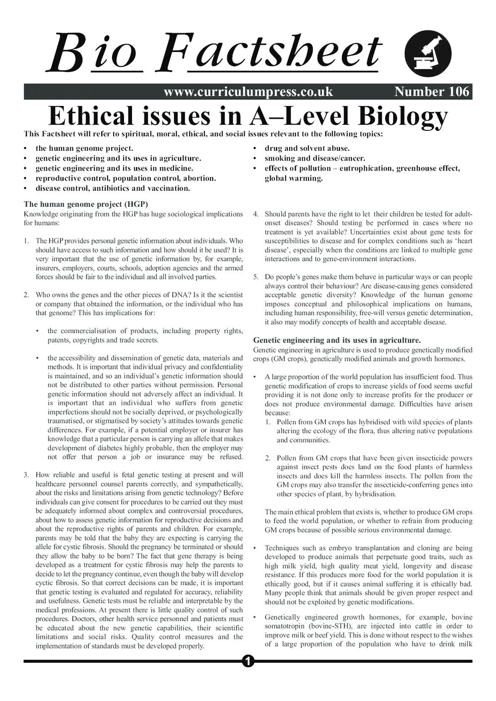 106 Ethical Issues