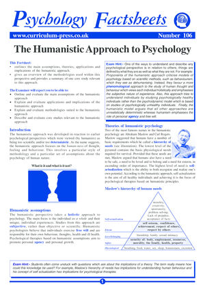 106 Humanistic Approach
