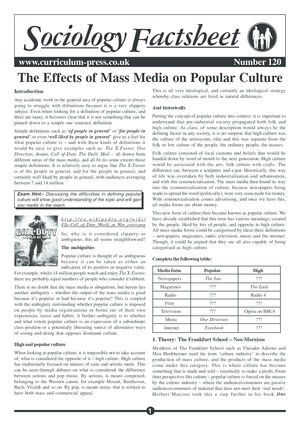 120 Effects Of Mass Media
