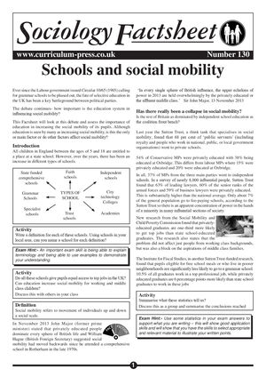 130 Schools And Social Mobility