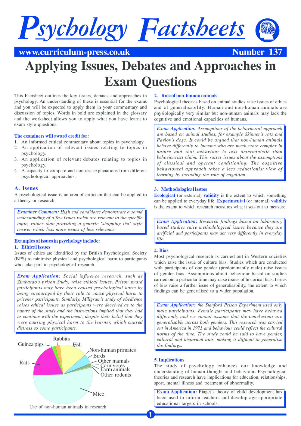 Curriculum Press - Applying Issues, Debates and Approaches