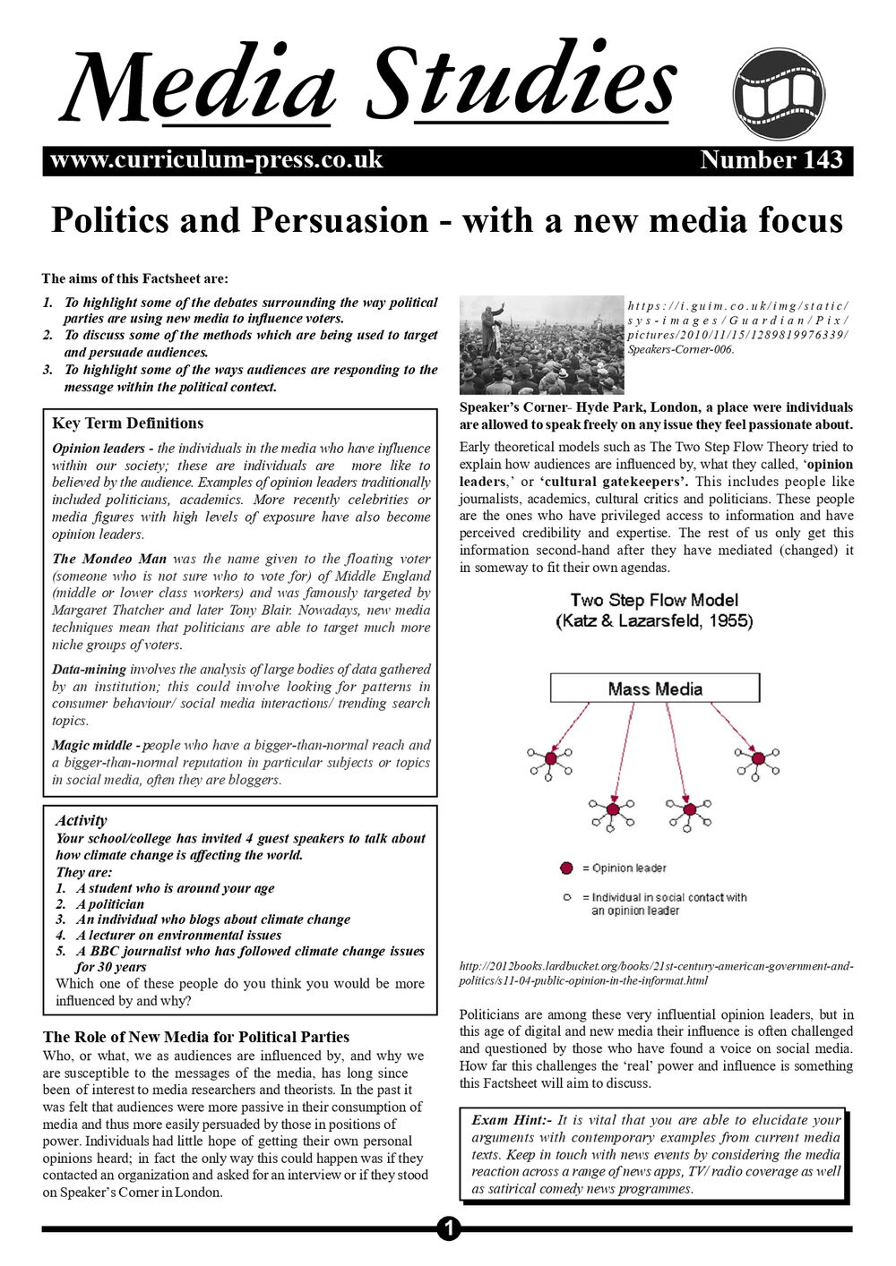 143 Politics And Persuasion
