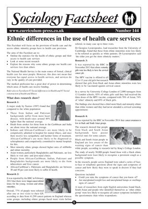 144 Ethnic Differences In Health Care Services