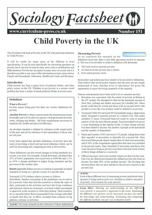 151 Child Poverty In The Uk