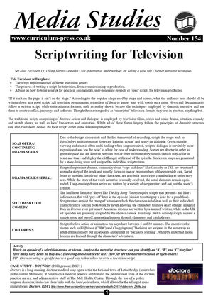 154 Scriptwriting For Television